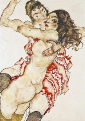 egon-schiele-couple-embracing